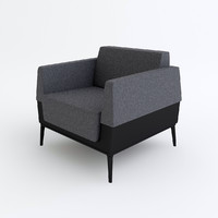 steelcase visalia lounge chair 3d max