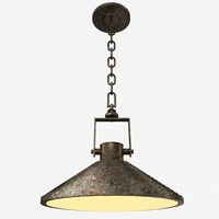 3d model of pendant lamp vintage