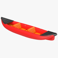 3d model kayak 3 red
