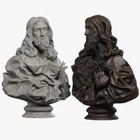 3d bust jesus christ