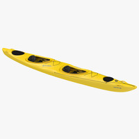 maya kayak 2 yellow