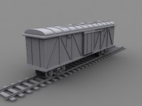 boxcars cargo trains 3d model
