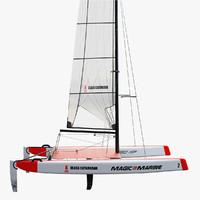 3d catamaran a-class model