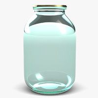glass jar 3 litters 3d model