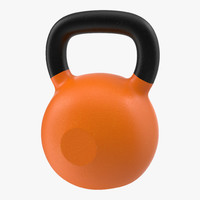 3ds max kettlebell 2 orange