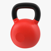 3d model of kettlebell 2 red