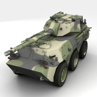 ptl02 tank destroyer 3d model