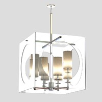 3d chandelier light regina andrew model