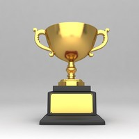 awards trophies 3d fbx