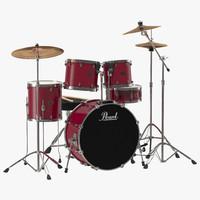 drum kit 2 3d model