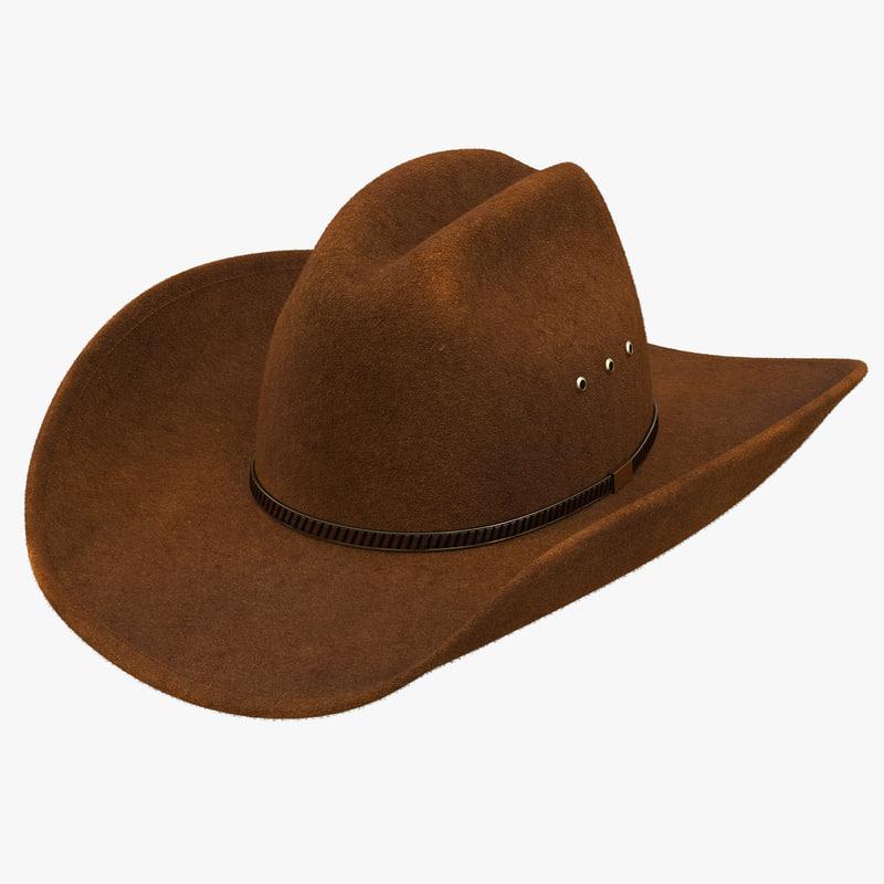 3d model of Cowboy Hat 00.jpg