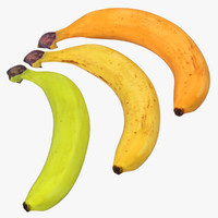 bananas modeled realistic c4d
