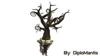 maya realistic fantastic tree