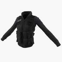 swat woman uniform 6 3d 3ds