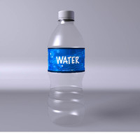 3d bottle water