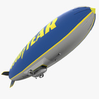 good year blimp 3d model