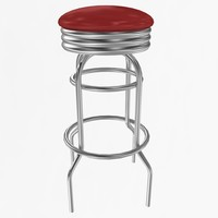 3d model swivel counter stool