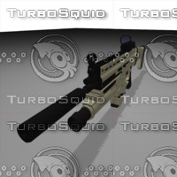 Combat Assault Rifle FN SCAR L with Red Dot Sight