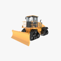 3ds max speed bulldozer crawler construction