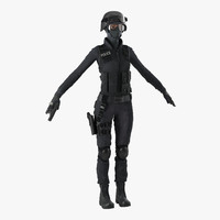 3ds max swat indian woman