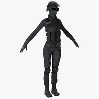 3dsmax swat woman unifirm 2