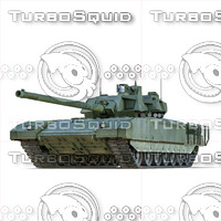 3ds max russian battle tank t-14