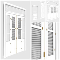 tropical windows doors miami 3d model