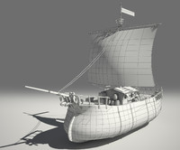3d ready fantasy ship