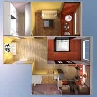 3d scene apartment