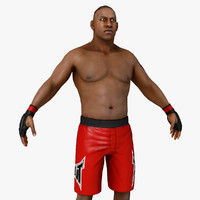 real-time ufc boxer 3d model