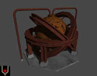 industrial cracking sphere 3d model