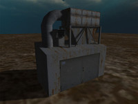industrial extractor 3d obj