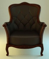 classic brownish leather 3d model