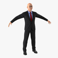 asian businessman 3d max