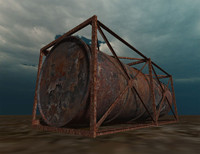3d model of industrial tank