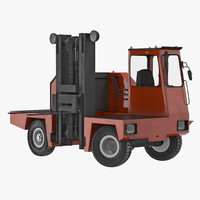 3d loading forklift truck red