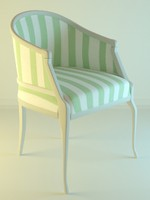 3ds max fabric classic armchair