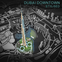 3d model dubai city