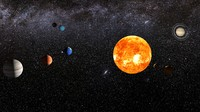3d solar sun mercury model