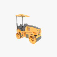 road roller compactor vehicle 3d 3ds