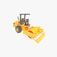 road roller vibratory 3d model