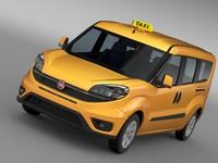 3d model of fiat doblo maxi taxi