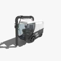 3d madvac cr100 road sweeper model