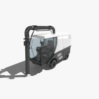 3d madvac cr100 road sweeper model