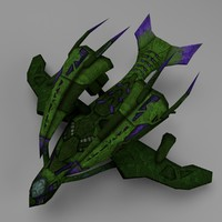 3d model alien space fighter