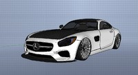 mercedes amg gt tuning 3d 3ds