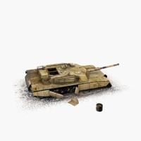 3d m1 abrams tank