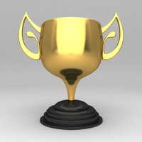 3d awards trophies model