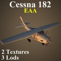 cessna 182 eaa 3d max