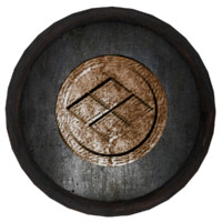 old metal shield 3d obj